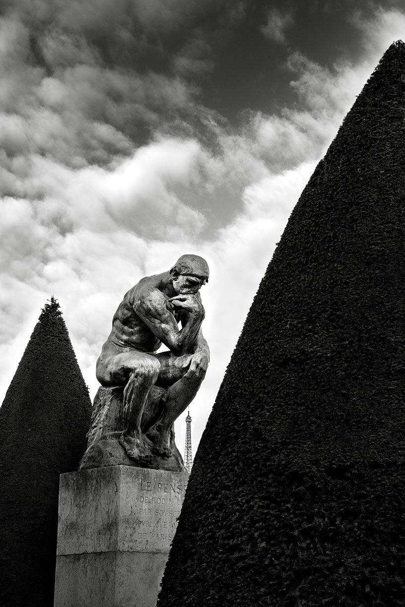 Eiffel Tower through Rodin