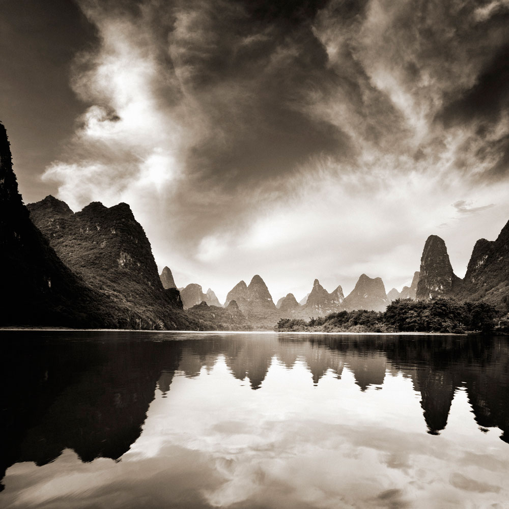 Sunset on Li River I,  Guilin, China