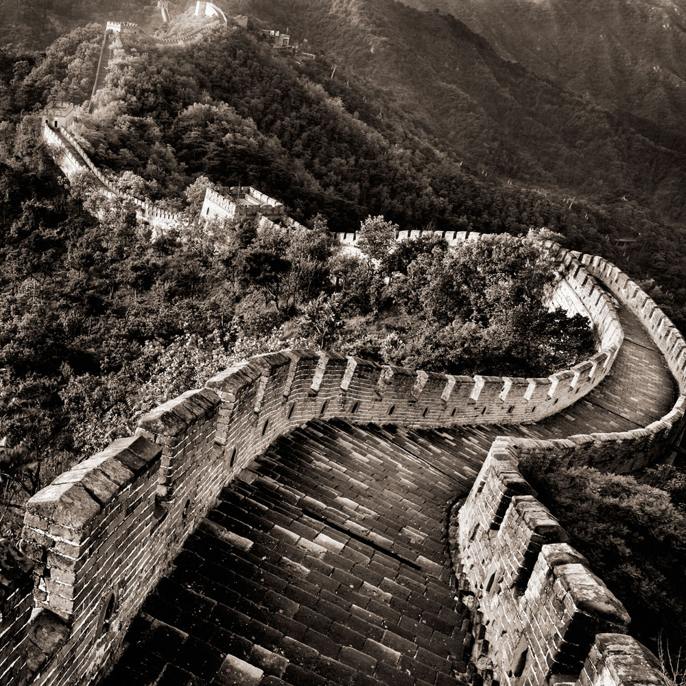 Sunrise on Great Wall at Jin Shan Ling  , Beijing, China