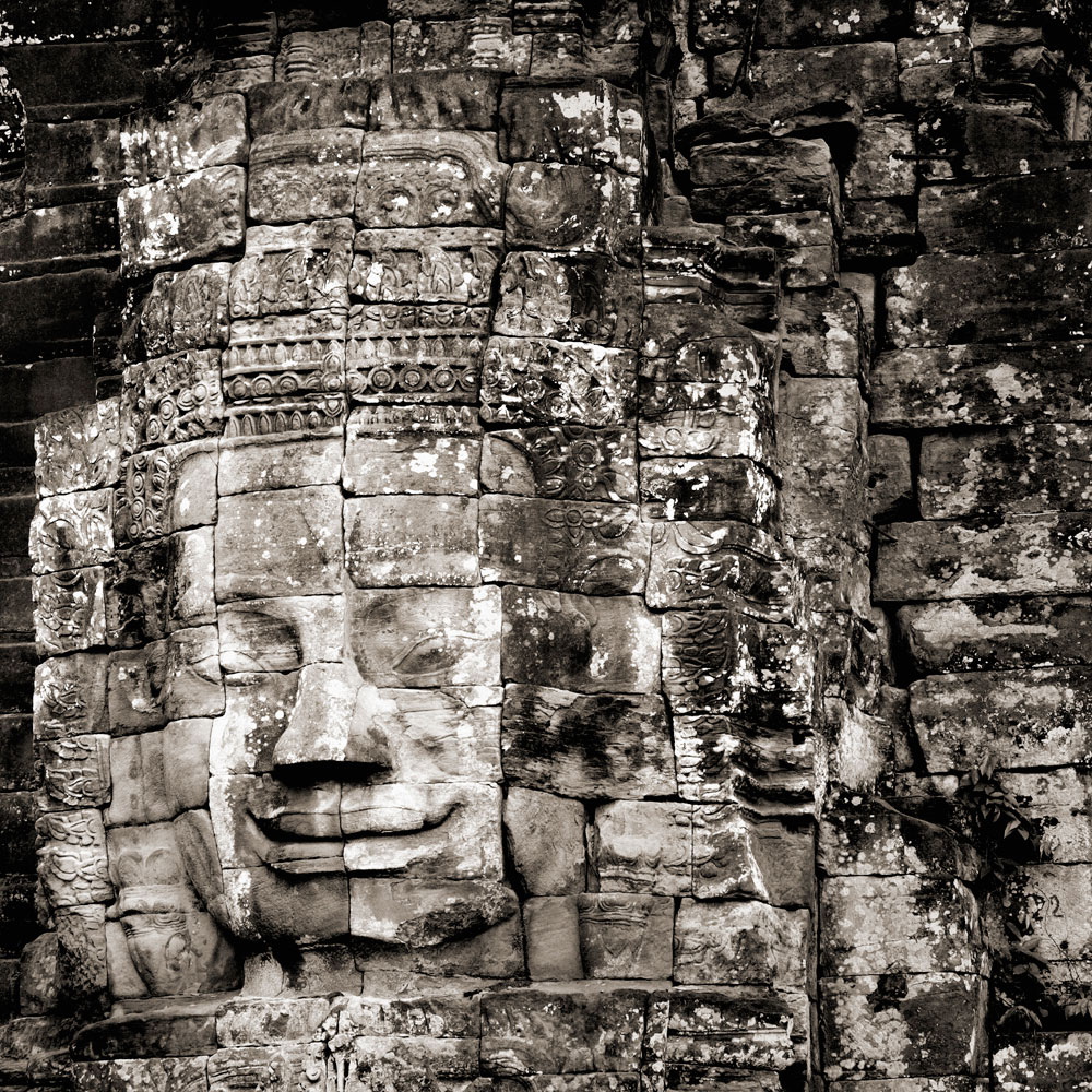 The Lord of Great Compassion on Bayon Temple at Angkor, Siem Reap Cambodia